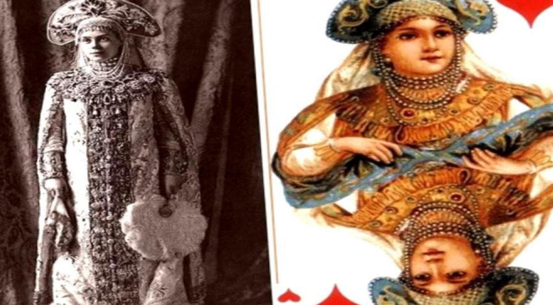 Посетители дома Романовых, ставшие лицами колоды карт